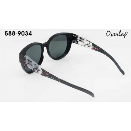 (NEW) Ideal 588-9034 Lady Overlap Series High Performance Hard Coating TAC Polarized Lens Sunglasses