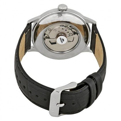 Orient RA-AG0004B RA-AG0004B Men's Classic Automatic Bambino Open Heart Black Leather Strap Watch