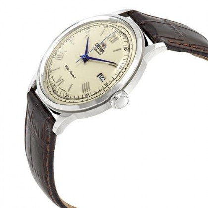 Orient FAC00009N AC00009N Men's Classic Automatic Bambino Version 2 Brown Leather Strap Watch