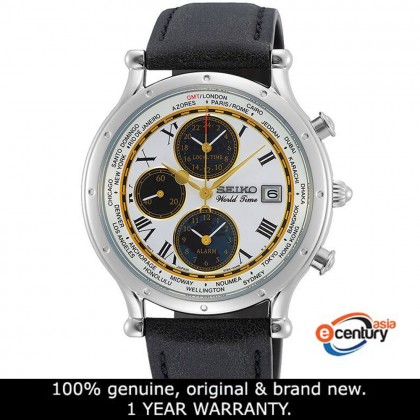 Seiko SPL055P1 Gents Quartz Age of Discovery GMT World Time Alarm Chronograph 30th Anniversary Limited Edition Watch