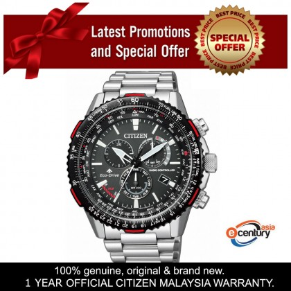 Citizen CB5001-57E Men's Eco-Drive Promaster Sky Series Radio-Controlled Stainless Steel Bracelet Watch
