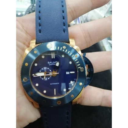 Balmer 7994G BRG-5 Men's Automatic Sapphire Blue Leather Strap Watch