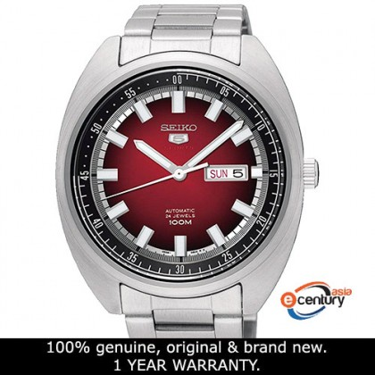Seiko 5 Sports SRPB17K1 Men's Automatic Red Dial Stainless Steel Bracelet Watch
