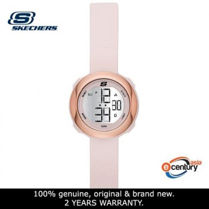 Skechers SR2100 Women's Sunridge Quartz Digital Mini-Size Pink Silicone Strap Watch