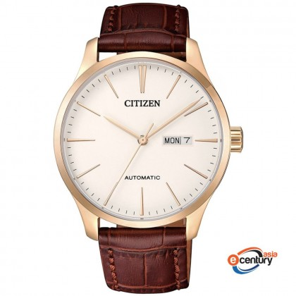 Citizen NH8353-18A Men's Mechanical Automatic Brown Leather Strap Watch